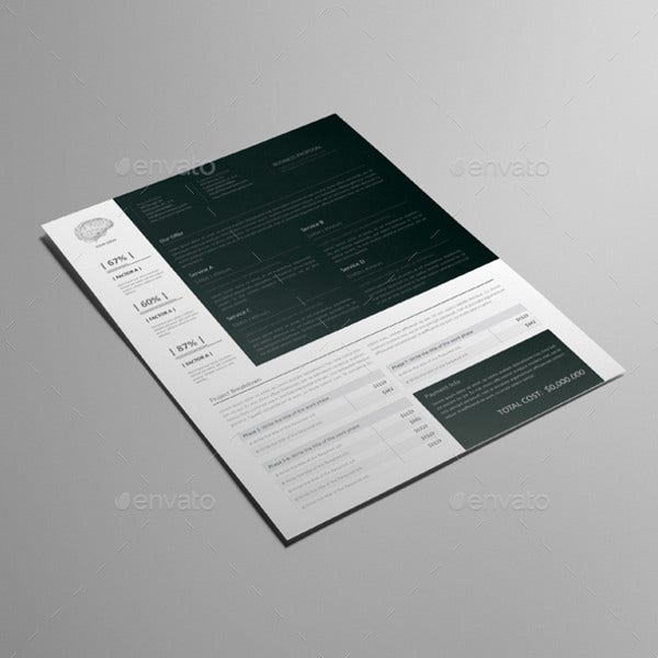 small business proposal letterhead template