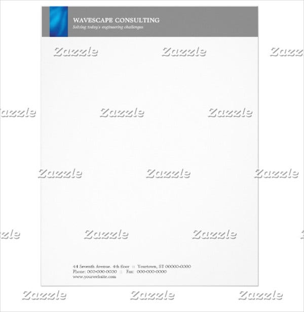 Small Business Consulting Letterhead Template
