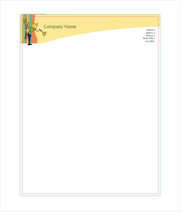 small business marketing letterhead template