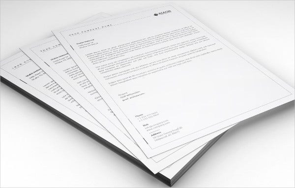 Cleaning Company Cover Letterhead Template