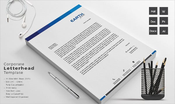 Corporate Cleaning Company Letterhead Template