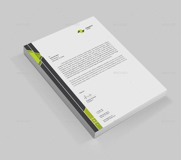 Professional Cleaning Company Letterhead Template