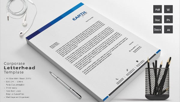 cleaning company letterhead templates