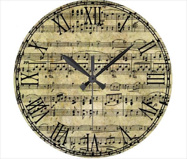 Vintage Paper Clock Template