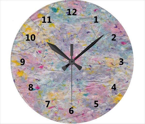 Paper Clock Face Template