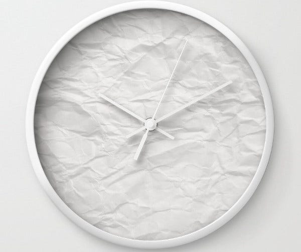 Paper Clock Craft Template
