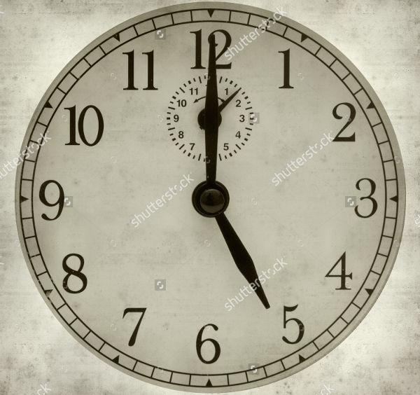 working paper clock template