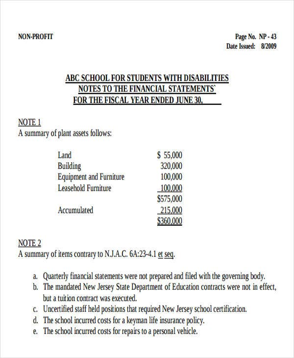 non profit school budget template