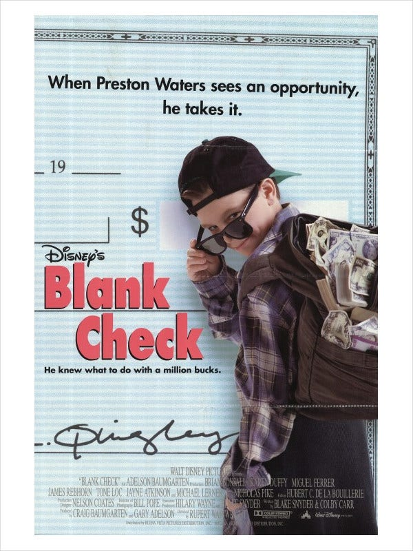 Blank Check Movie Poster