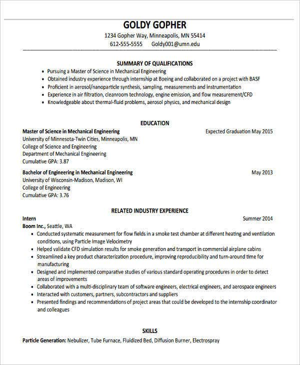 graduate fresher resume format - Resume Formats For It Freshers