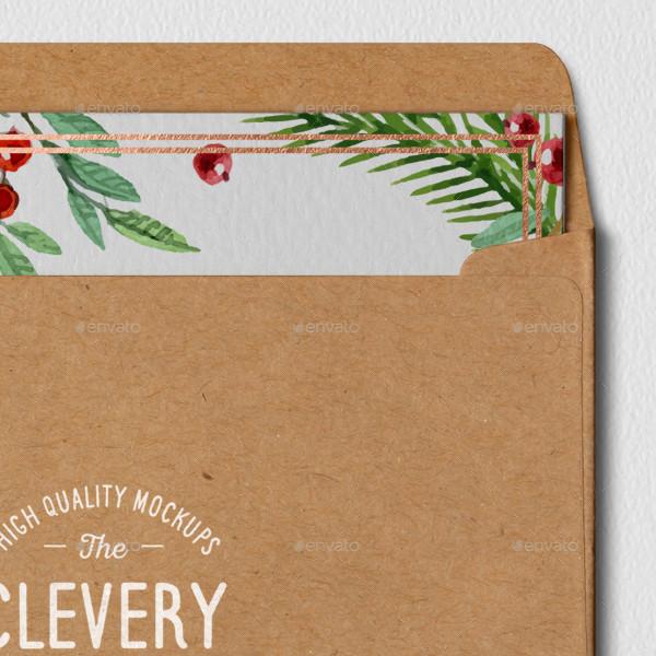 photorealistic invitation envelope mockup