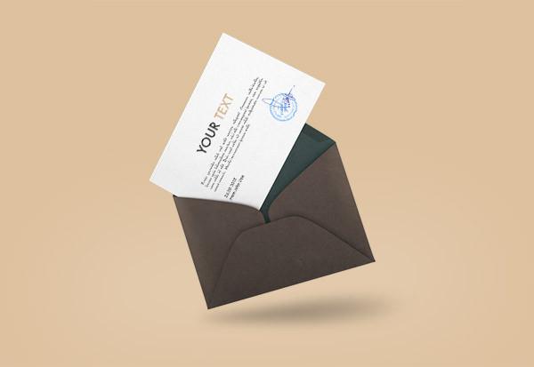 Invitation Envelope Cover Mockup