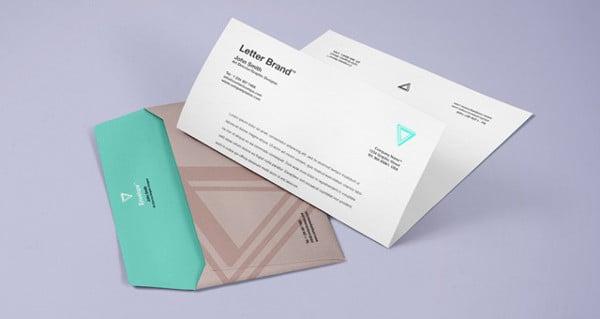 PSD Gift Invitation Envelope Mockup