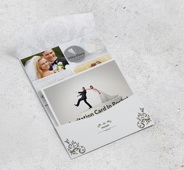 Invitation Pocket Envelope Mockup