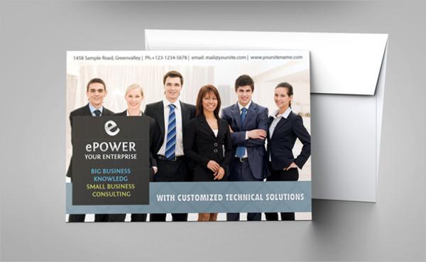 Business Invitation Envelope Mockup