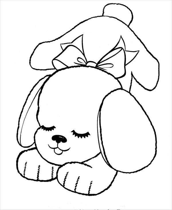 9+ Puppy Coloring Pages - JPG, AI Illustrator Download | Free ...