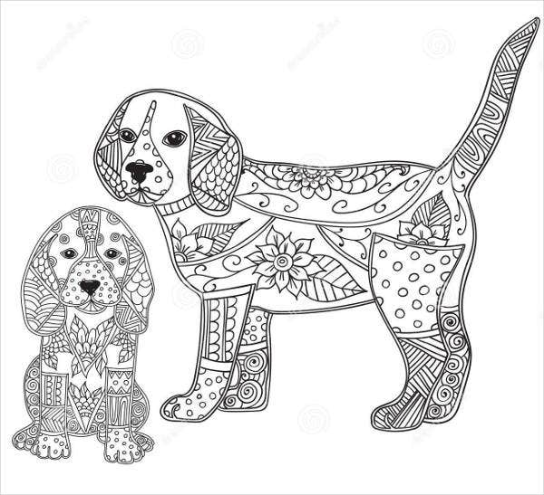 9 Puppy Coloring Pages JPG AI Illustrator Download Free