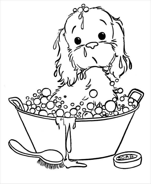 9 Puppy Coloring Pages JPG