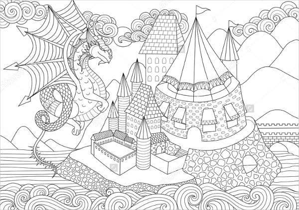 Sea Dragon Coloring Page