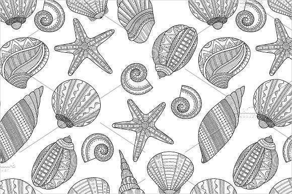 9 Sea Coloring Pages JPG AI Illustrator Download