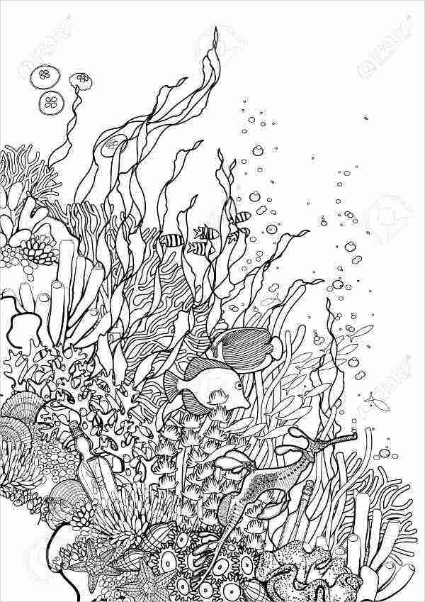 Deep Sea Coloring Page