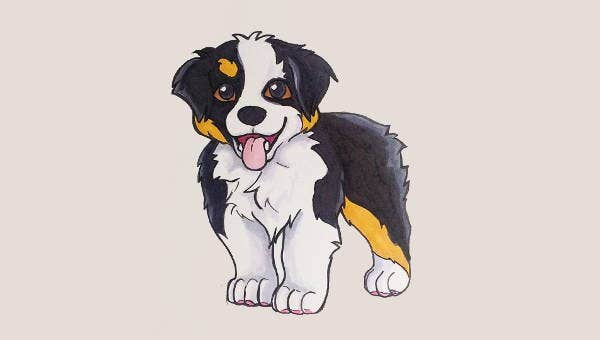 9 Puppy Coloring Pages Jpg Ai
