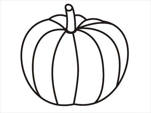 pumpkin coloring page for toddlers