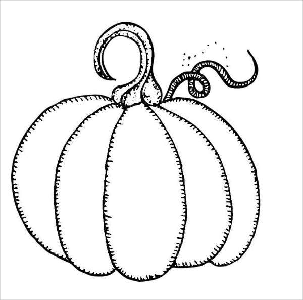 pumpkin outline coloring page