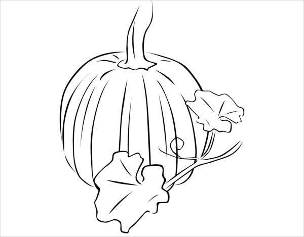 pumpkin leaf coloring page