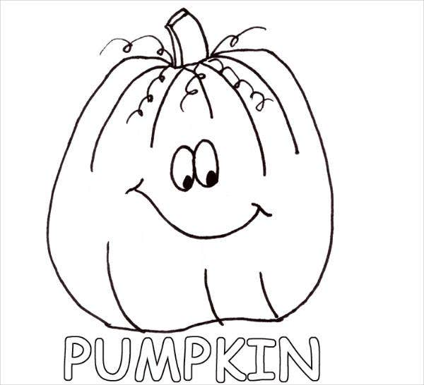 pumpkin coloring page for preschool