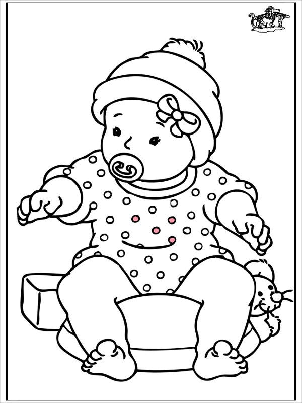 free printable baby girl coloring page