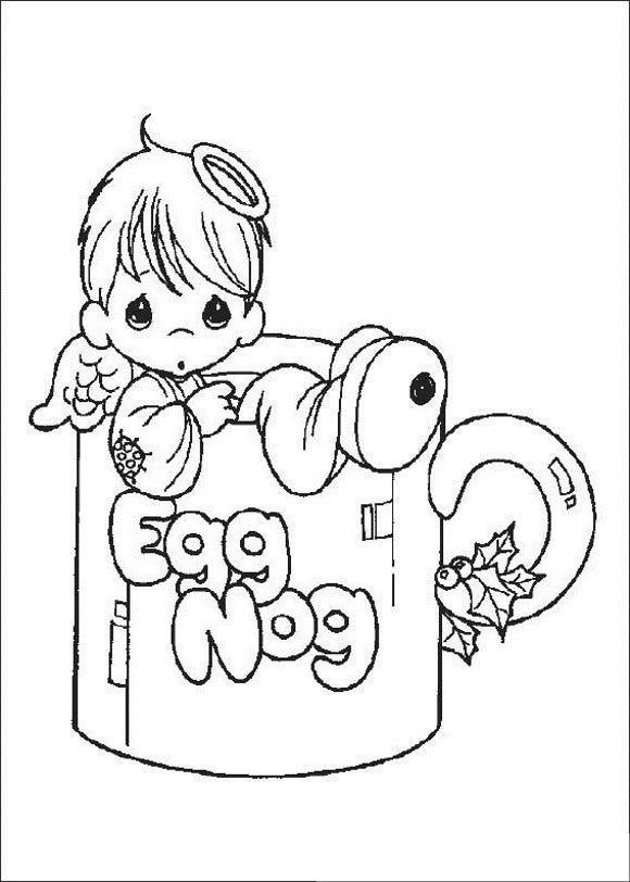 baby girl precious moments coloring page1