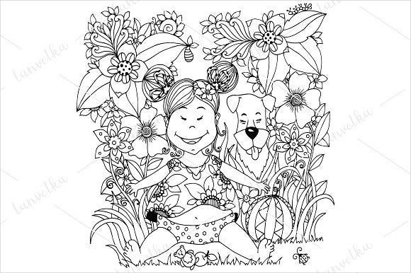 baby girl coloring page for kids1