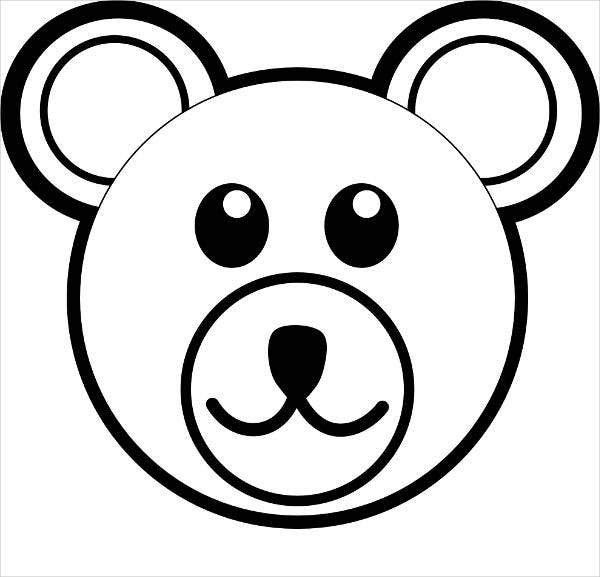 teddy bear face coloring page