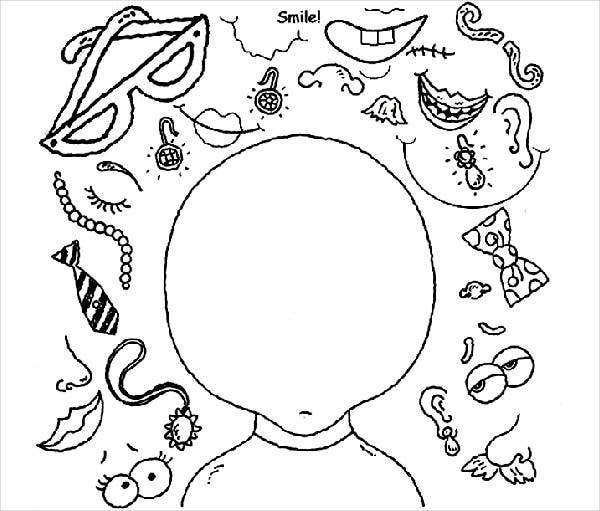 Funny Face Coloring Page
