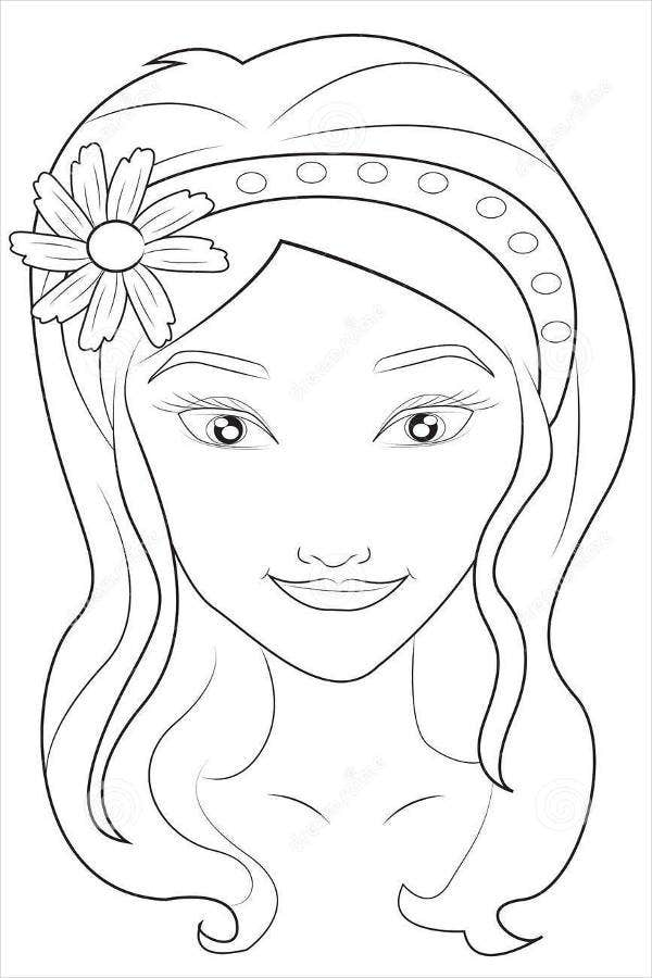 girl face coloring pages - photo#5