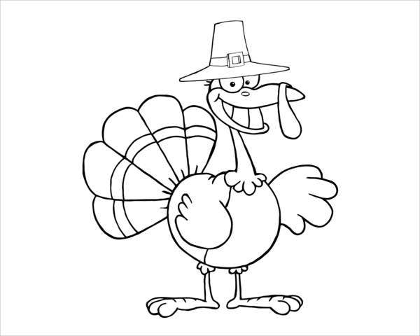 cartoon turkey coloring pages - photo#4
