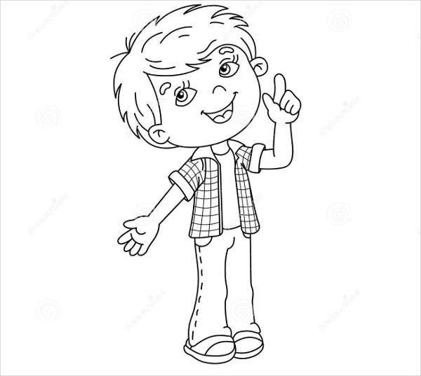 Vector Of Cartoon Choir Boy Singing