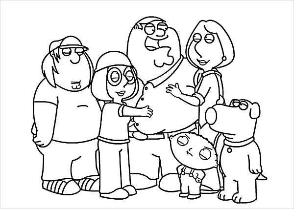 family-cartoon-coloring-page