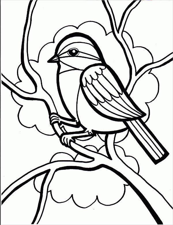 free printable bird coloring page