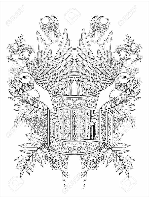 bird-cage-coloring-page