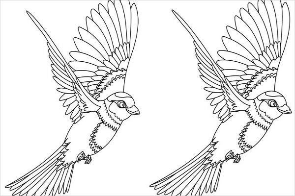 Flying Bird Coloring Pages Coloring Coloring Pages