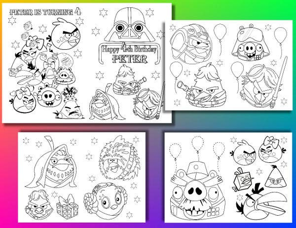 angry bird coloring page