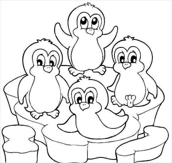 9 cartoon coloring pages jpg ai illustrator download for Penguin adult coloring pages
