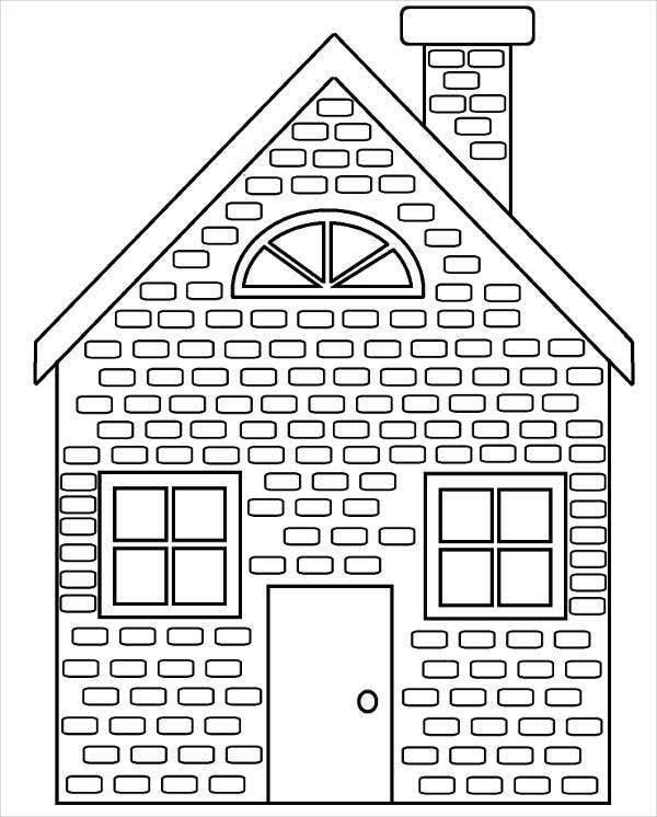 9 House Coloring Pages JPG AI Illustrator Download Free