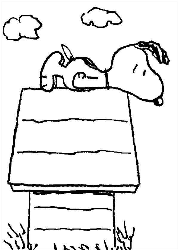 Snoopy Dog House Coloring Page