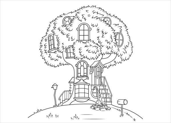 tree-house-coloring-page