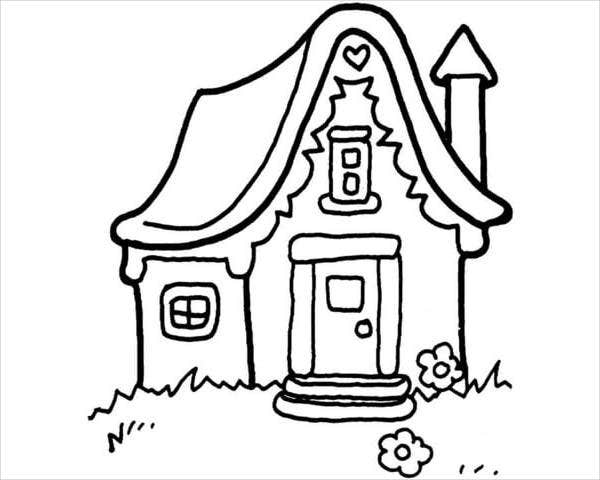 little-house-coloring-page