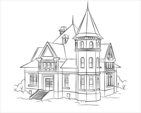 9+ House Coloring Pages - JPG, AI Illustrator Download ...