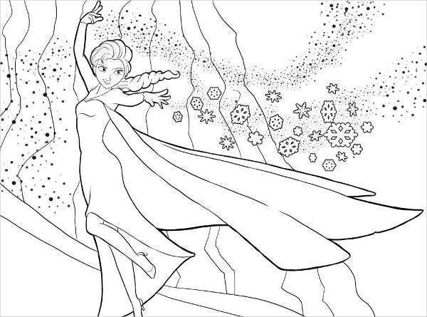Frozen Character Coloring Page